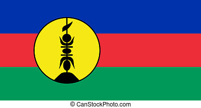 New Caledonia Flag - Sovereign state flag of dependent...