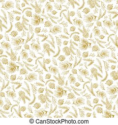 Christmas tree branches pattern backdrop.Gold - Christmas...