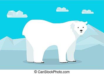 Funny Polar Bear Illustration