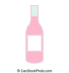 bottle glass drink isolated icon