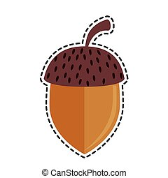 nut seed isolated icon vector illustration design