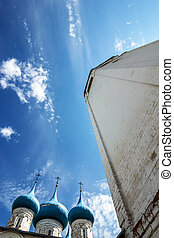 Domes of Annunciation Cathedral in Gorokhovets. Vladimir...