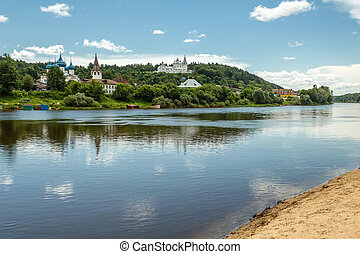 Gorokhovets, Vladimir region. The Klyazma River and...