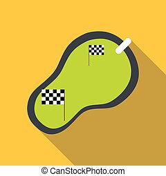 Speedway icon, flat style - Speedway icon. Flat illustration...
