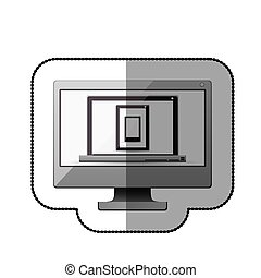 Computer laptop tablet and smartphone design