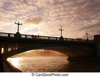 Blackfriars bridge London - London Blackfriars bridge at...