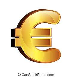 euro money gold icon