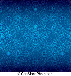 blue floral spiral background