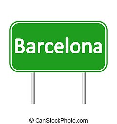 Barcelona road sign. - Barcelona road sign isolated on white...