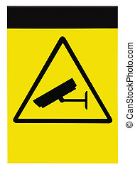 Blank protected by video surveillance sign