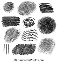 Graphite pencil textures - Collection of graphite pencil...