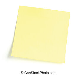 Blank Yellow To-Do List Sticker, isolated on white