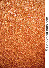 Brown Leather Background - Brown leather texture, wide...