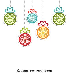 happy merry christmas ball card