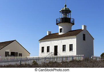 Historic Old Point Loma Lighthouse at Cabrillo National...