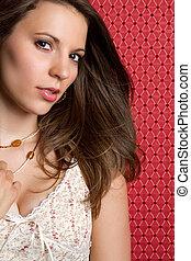 Sexy Woman - Beautiful sexy brunette woman