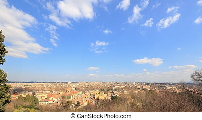 From the Janiculum Hill (Gianicolo). Rome. Italy. TimeLapse....
