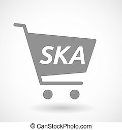 Isolated cart with the text SKA - Illustration of an...