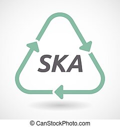 Isolated recycle sign with the text SKA - Illustration of an...