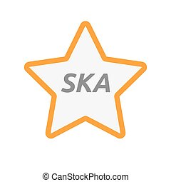 Isolated star icon with the text SKA - Illustration of an...