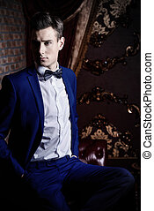 gorgeous young man - Imposing well dressed man in a...