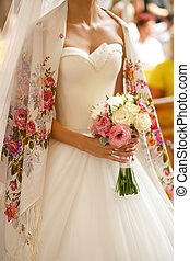 The bride with bouquet