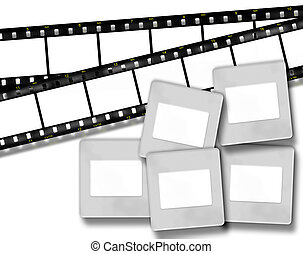 blank film stripes and blank slide photo frames - Design...