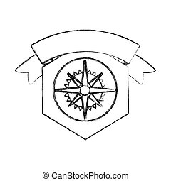 Isolated compass design - Compass icon. Instrument tool...