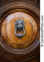 Lion Head Door Knocker, Ancient Knocker background