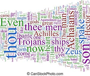 Word cloud - Homer\'s Illiad - A word cloud based on...