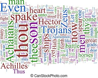 Word cloud - The Illiad - A word cloud based on Homer\'s...