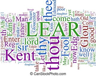 Word cloud - King Lear - A word cloud based on...