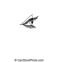Vector graphic eye - Vector drawing of the eye on a white...