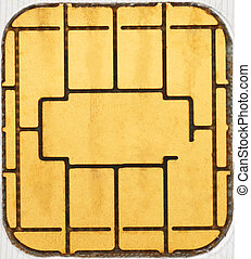 Credit card chip macro texture as abstract background