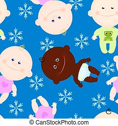 seamless background baby kid winter