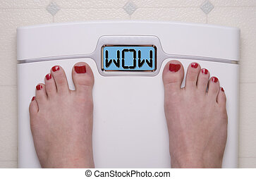Wow Scale - Digital Bathroom Scale Displaying OMG Message