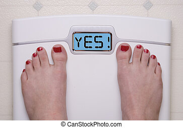 YES Scale - Digital Bathroom Scale Displaying OMG Message
