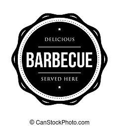 Barbecue vintage stamp vector