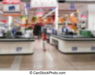checkout of a shopping center blurry for internal...
