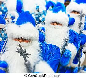 Santa Claus toy in supermarket.