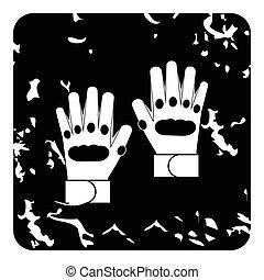 Glove icon, grunge style - Glove icon. Grunge illustration...