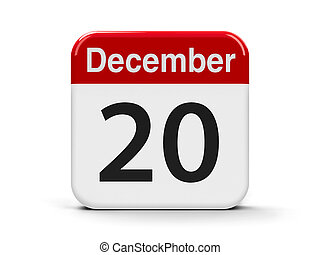 20th December - Calendar web button - The Twentieth of...