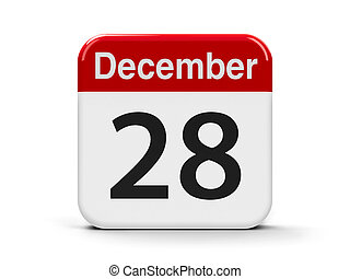 28th December - Calendar web button - The Twenty Eighth of...