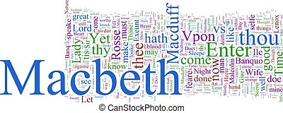 Word cloud - Macbeth - A word cloud based on Shakespeare\'s...