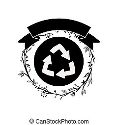 Isolated recycle sign design