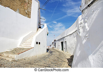 street of Campo Maior, south of Portugal