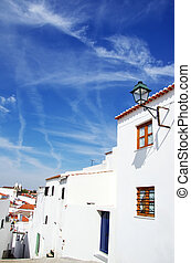 old street of Campo Maior village, Portugal