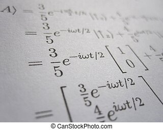 Mathematical expressions - A page of mathematical...