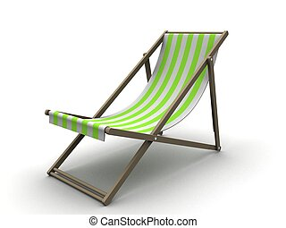 sun chair - 3d rendered illustration of a simple sun chair