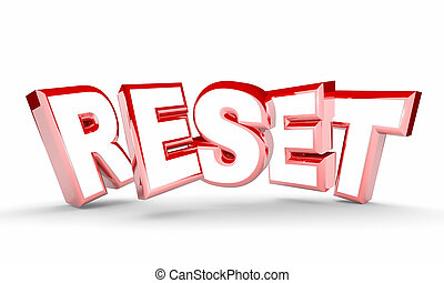 Reset Word Restart New Beginning Do Over 3d Illustration